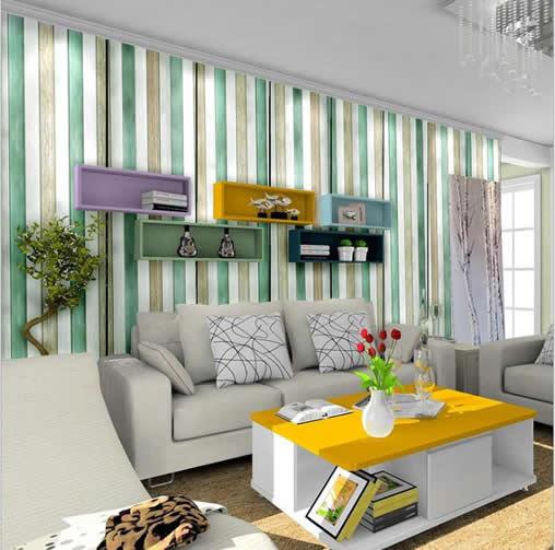 竖条纹风格环保型墙布